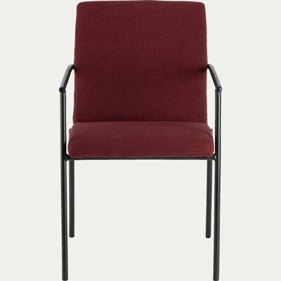 Chaise en tissu avec accoudoirs rouge sumac-JASPE