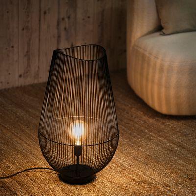 Lampe à poser L35xl35xH59cm - noir-CLAUDINE