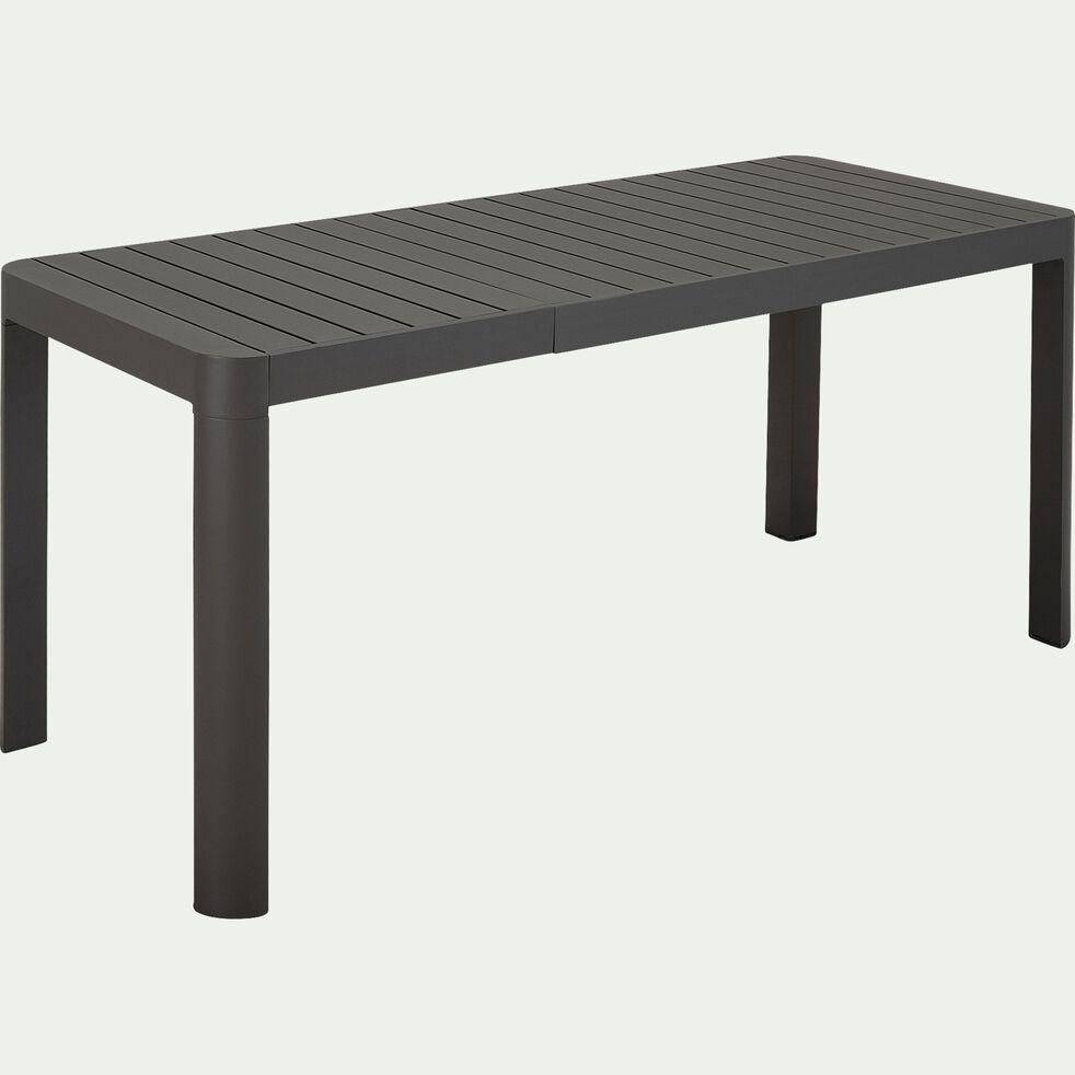 Table de jardin extensible en aluminium - gris ardoise 4 à 6 places-BALCONY