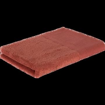 Serviette de toilette 50x100cm en coton rose-MINH