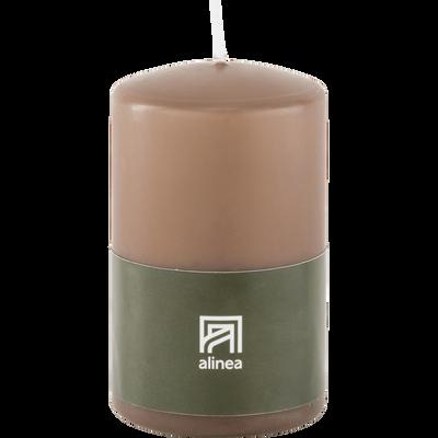 Bougie cylindrique brun châtaigner-HALBA