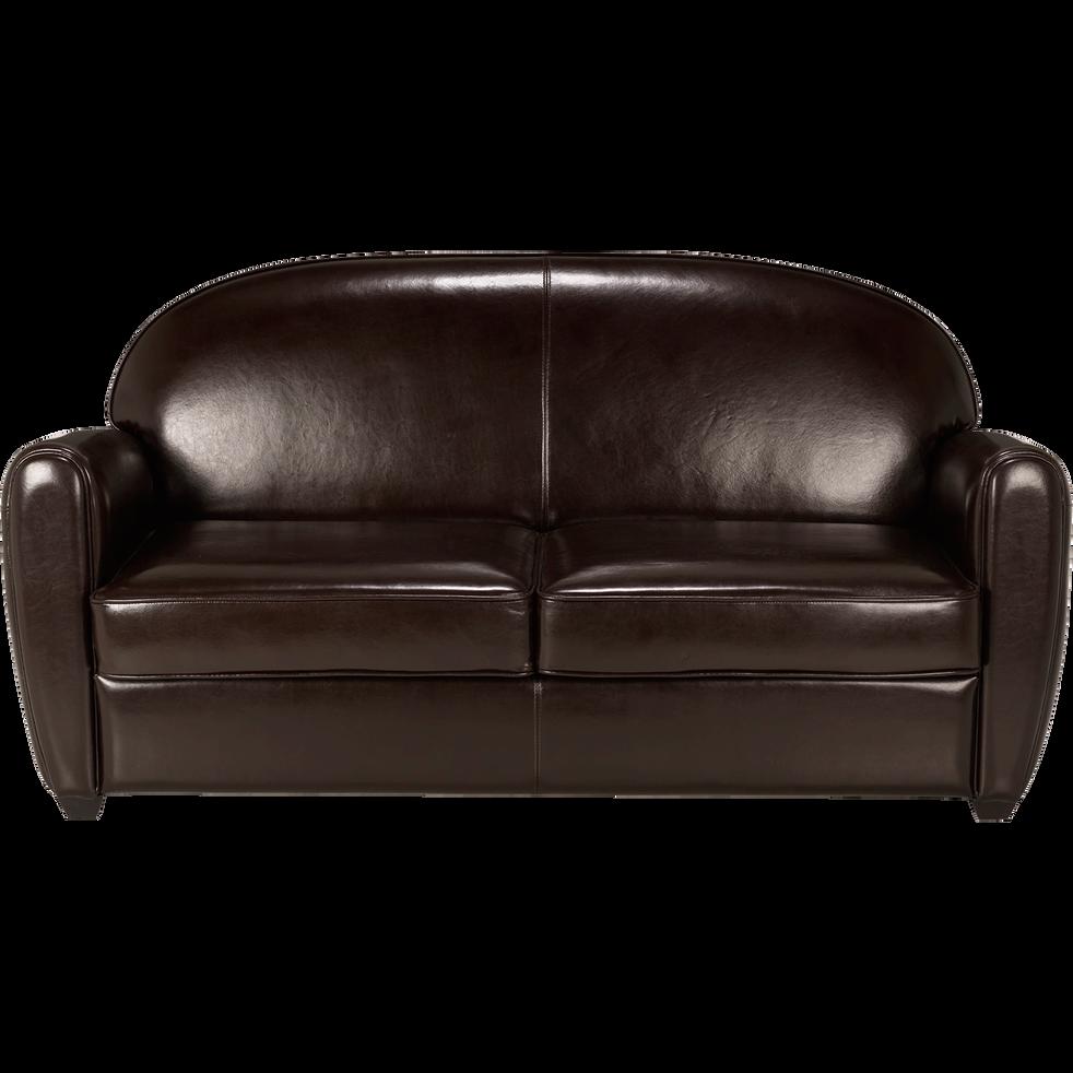 canap club convertible 3 places en cuir marron habana canap s droits en cuir alinea. Black Bedroom Furniture Sets. Home Design Ideas