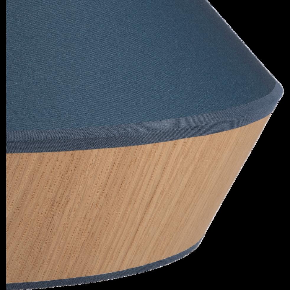 suspension en tissu ch ne et tissu bleu d40cm domus catalogue storefront alin a alinea. Black Bedroom Furniture Sets. Home Design Ideas