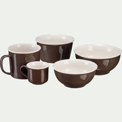 Tasse en porcelaine brun châtaigner 9cl-CAFI