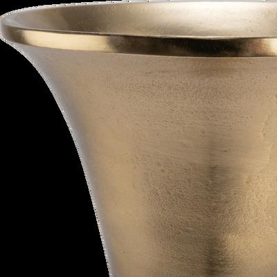 Vase en aluminium doré H70cm-CAPELLA