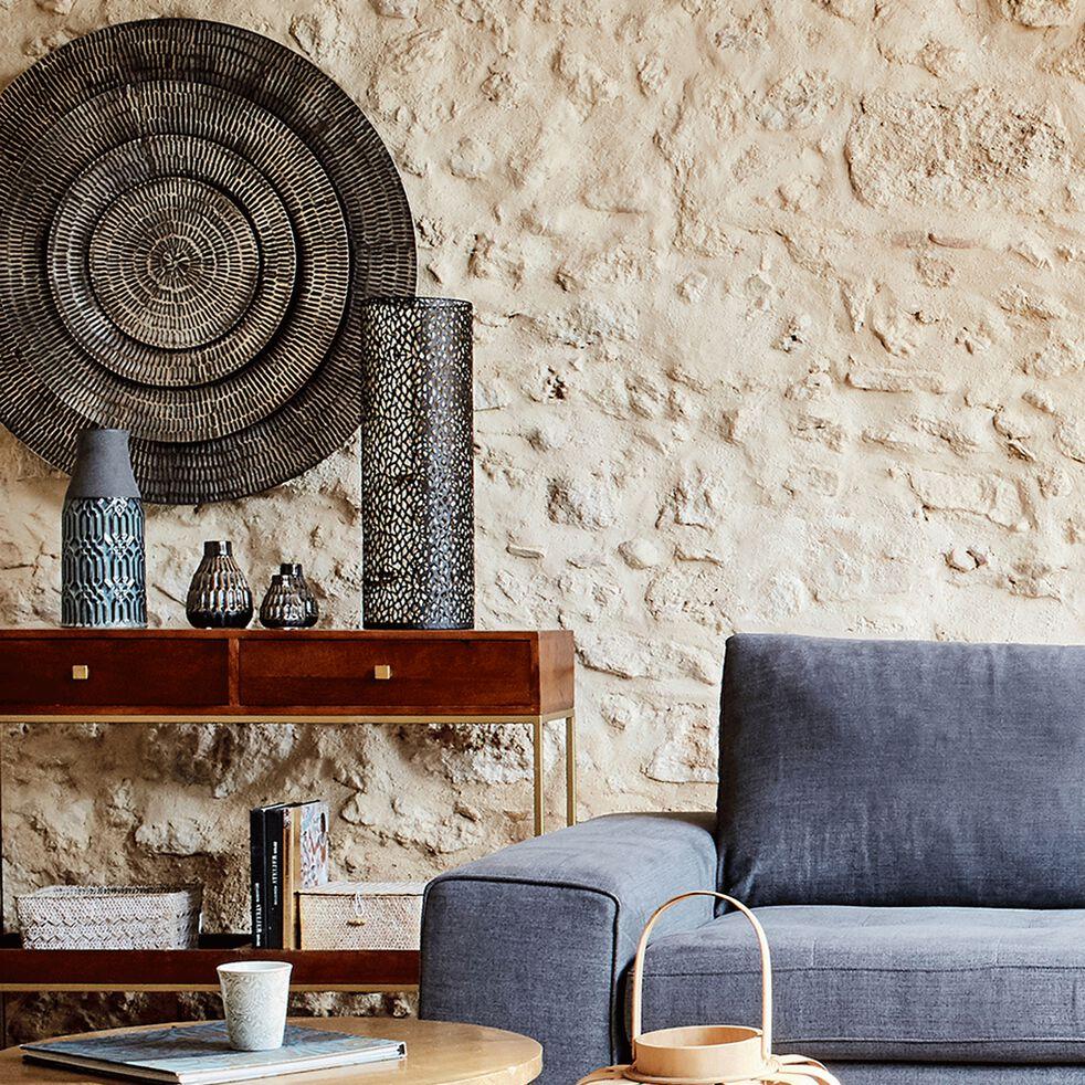 VESTITA - Décoration murale en métal brun D16cm