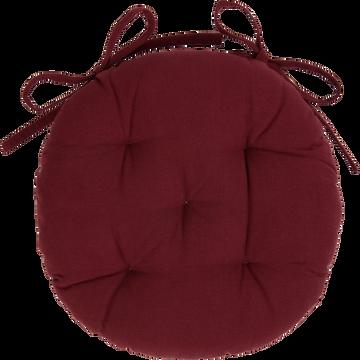 Galette de chaise ronde rouge sumac D40cm-CALANQUES