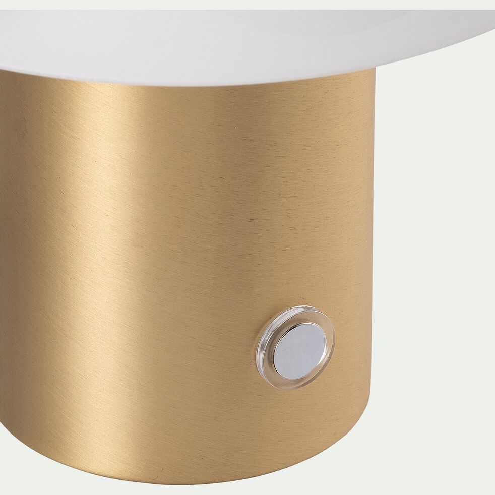 Lampe à poser en verre et acier - doré H21cm-Timon