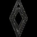 Patère en métal noir 1 emplacement L11xl4xH24cm-PACHA