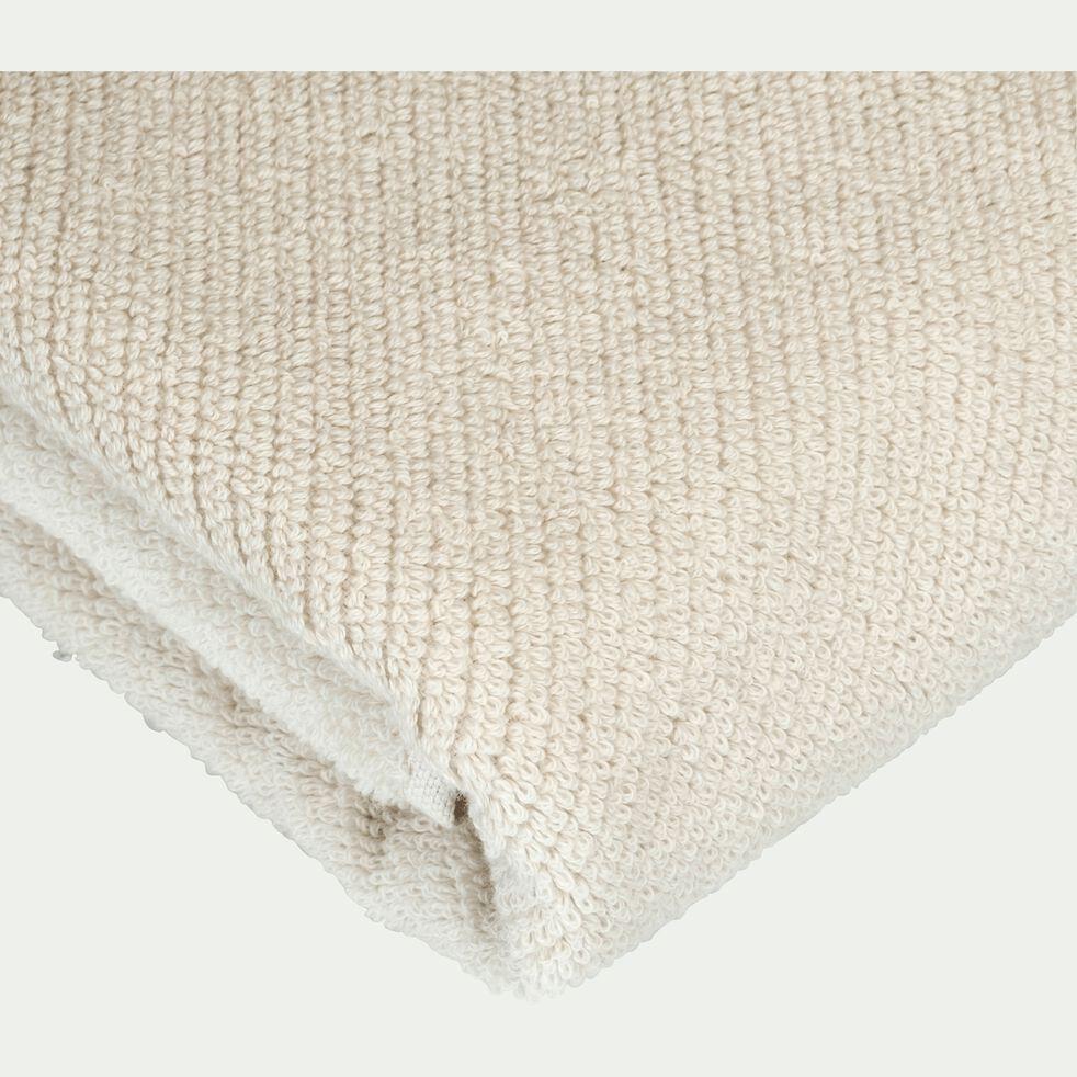 Drap de douche bouclette en coton bio - beige roucas 70x130cm-COLINE
