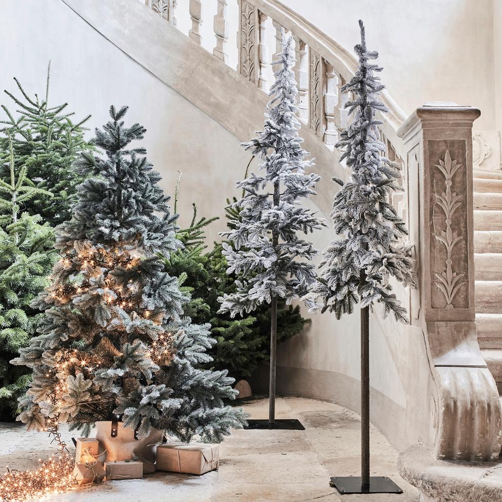 Sapin de Noël givré H180cm-FANNI