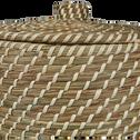 Panier à linge en jonc naturel H30xD39cm-Adam