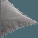 Coussin en lin lavé gris restanque 40x60cm-VENCE