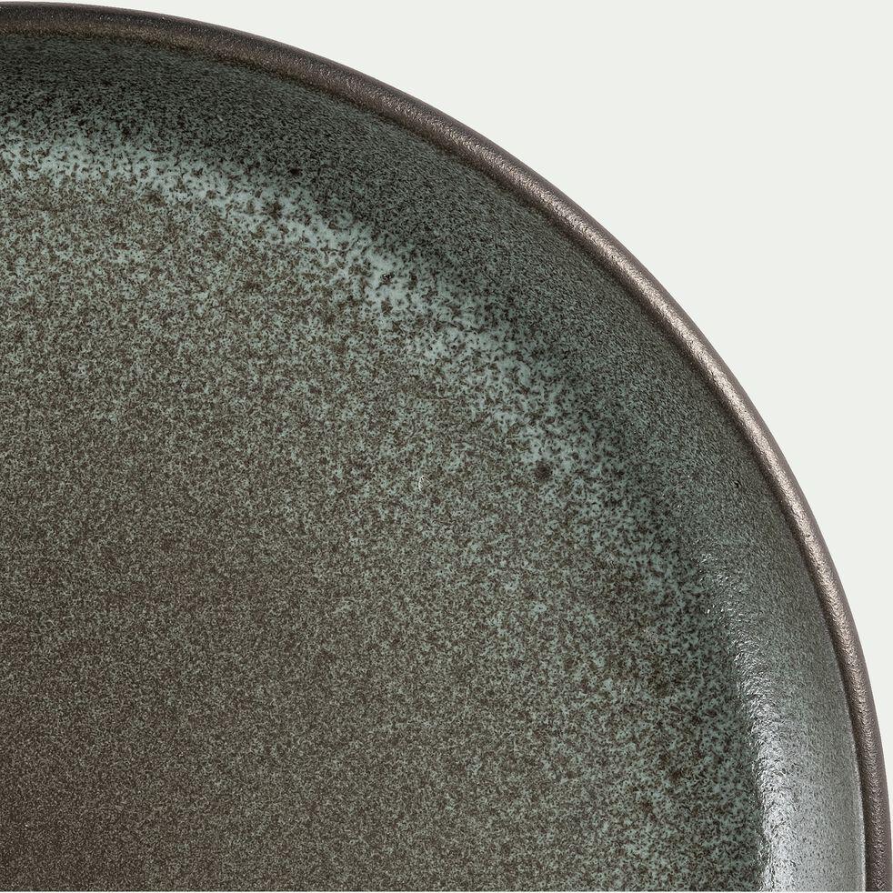 Assiette à dessert en faïence noir D22cm-LIBANO