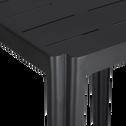 Table haute carrée en métal gris anthracite-TRIVIA