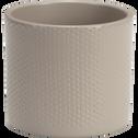 Pot taupe en céramique (plusieurs tailles)-ERA