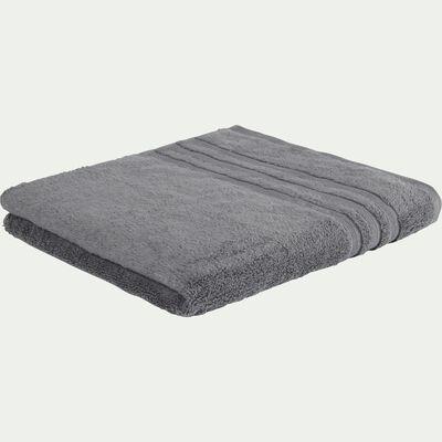 Drap de douche bouclette en coton - gris anthracite 70x140cm-Noun