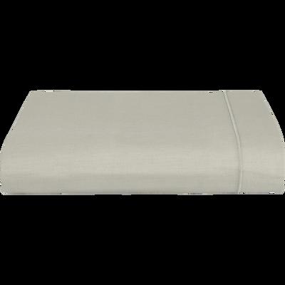 Drap plat en coton Vert olivier 180x300cm-CALANQUES