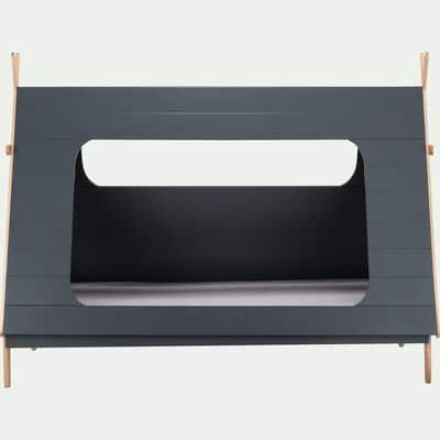 Lit en forme de tipi Gris restanque - 90x200 cm épaisseur max 15cm-TIPI