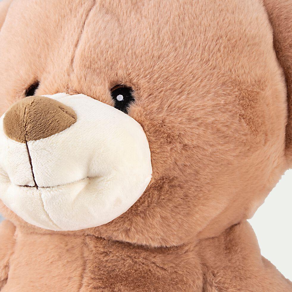 Peluche ours - marron h66cm-Toni