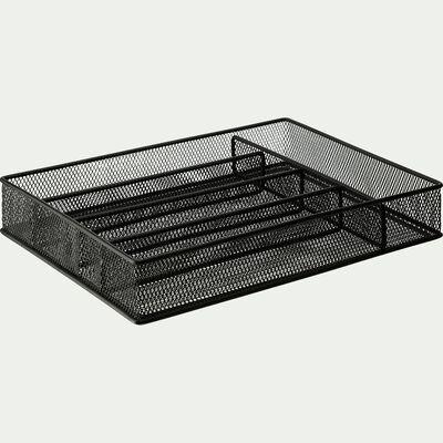 Range couverts 5 compartiments - noir-Varai