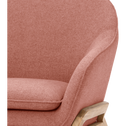 Fauteuil en tissu rose-VIK