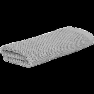 Serviette invité gris restanque 30x50cm-COLINE