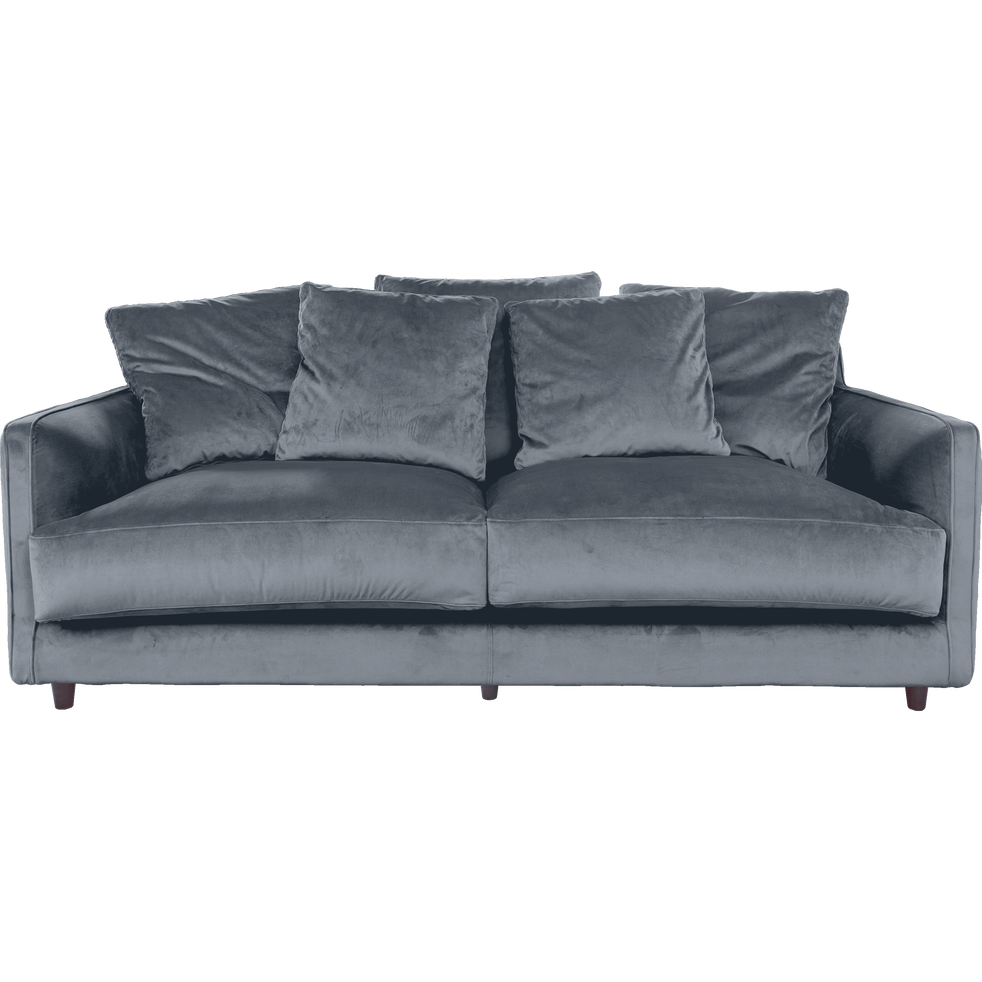 canap 3 places convertible en velours gris restanque lenita canap s en tissu alinea. Black Bedroom Furniture Sets. Home Design Ideas