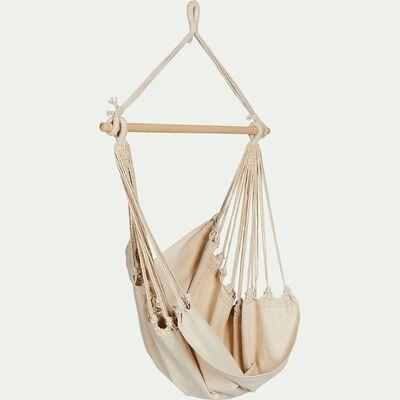 Fauteuil suspendu en coton beige (1 personne)-Piana