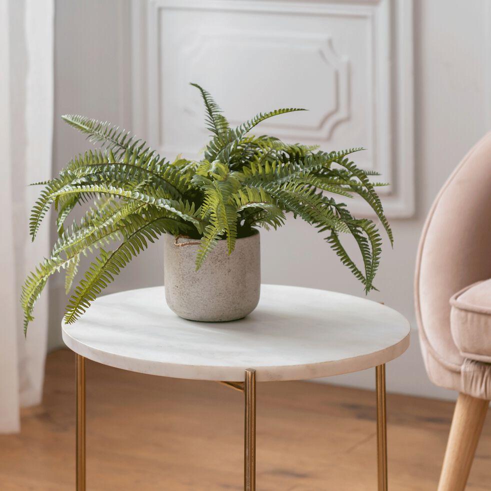 Plante artificielle verte H42cm-FOUGERE