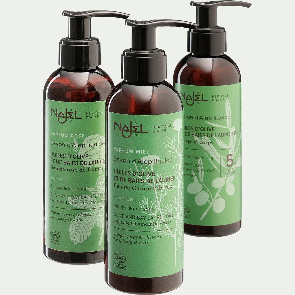 Savon d'Alep liquide 5% à l'huile d'olive et de laurier 200ml-FARES