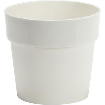 Pot blanc en plastique H13xD14cm-B FOR