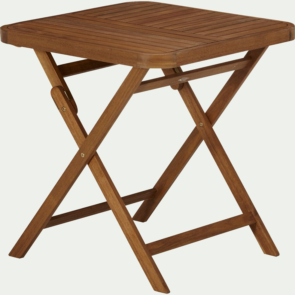 Table de jardin pliante en acacia huilé (2 places)-Youk