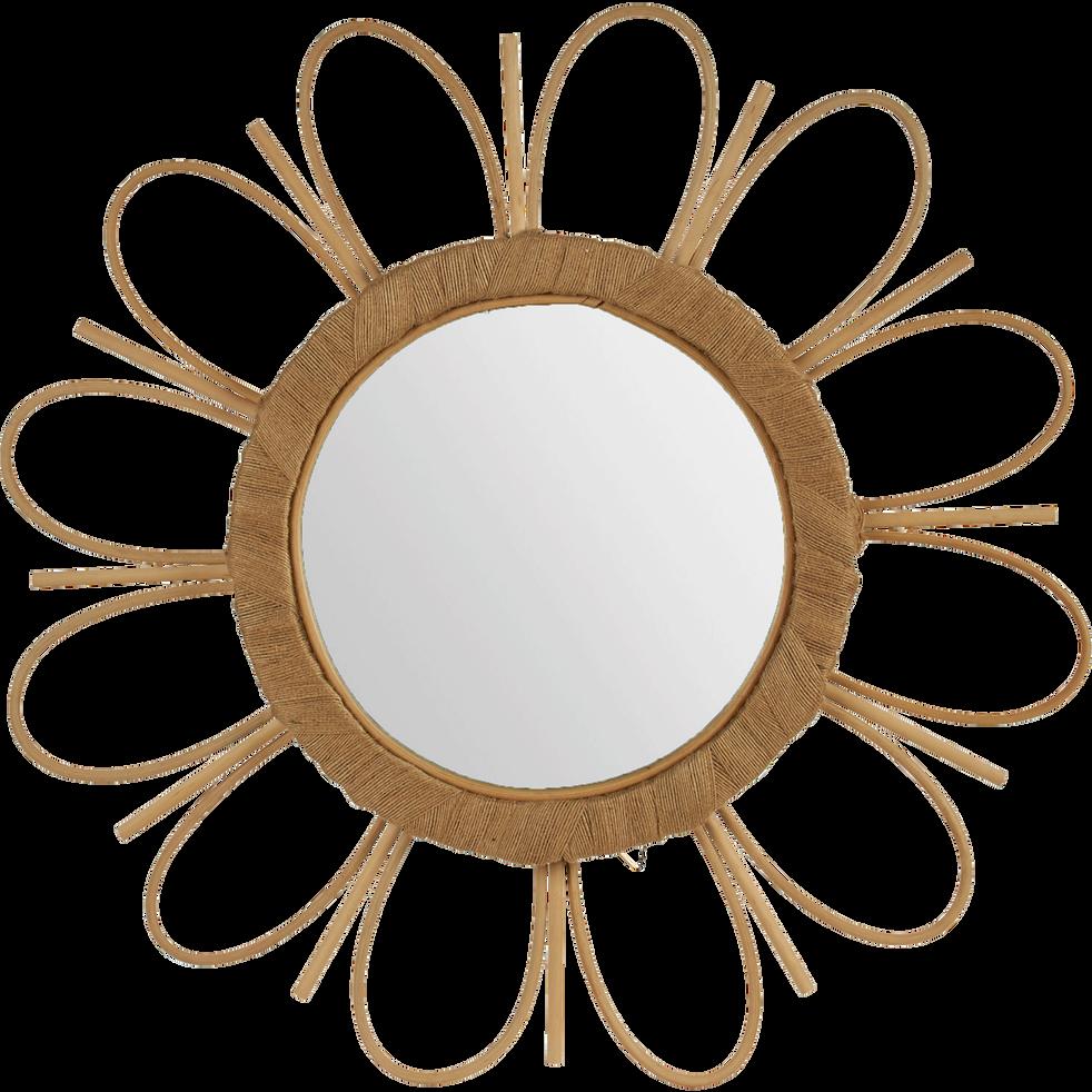 Miroir fleur en bambou (D50cm)-EMMA