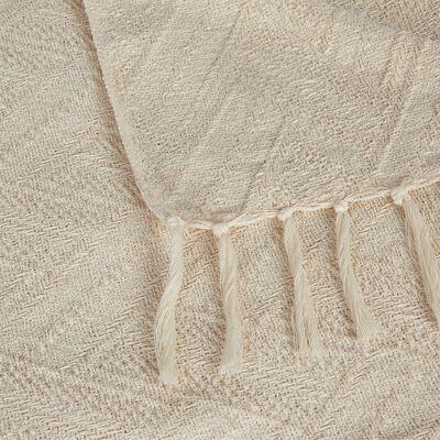 Plaid tissé en coton naturel 130x170cm-CALI