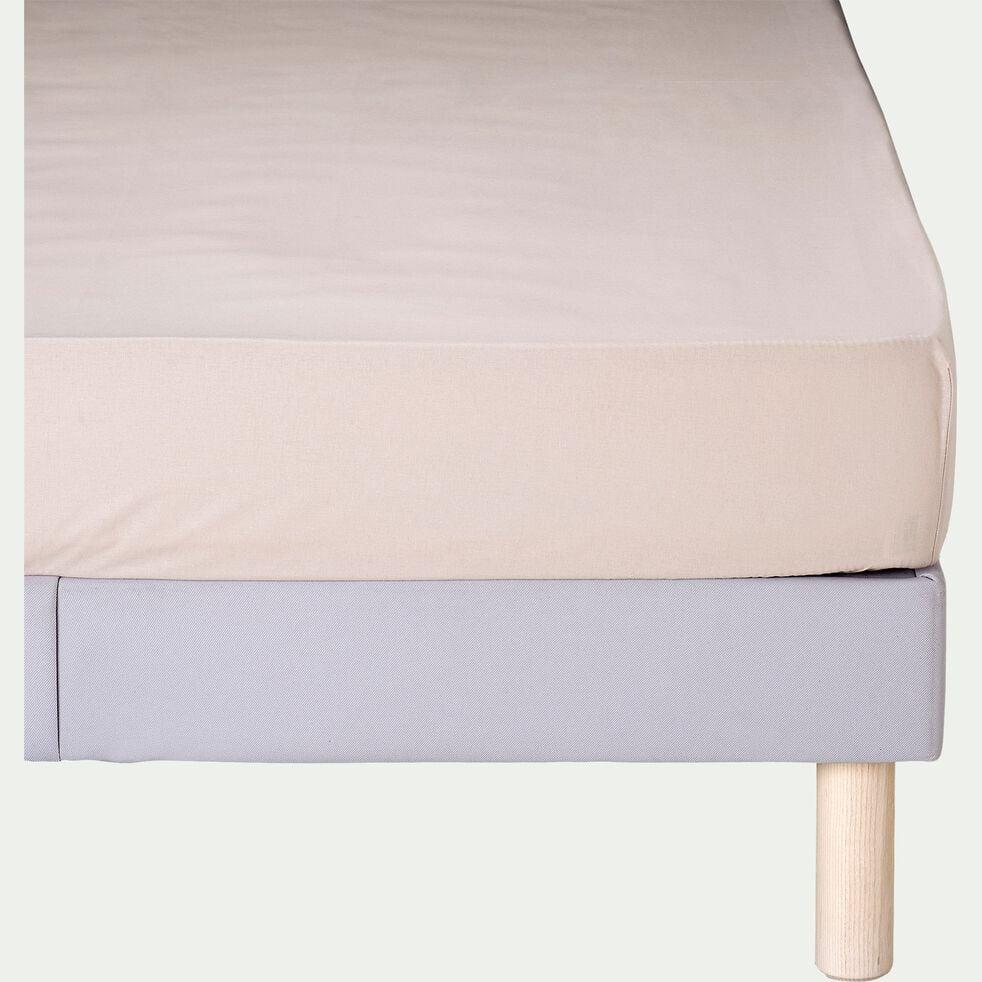 Drap housse en coton - beige alpilles 140x200cm B30cm-CALANQUES