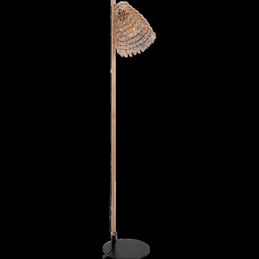 Lampadaire fait main en fibre de palmier H130cm-ORIA