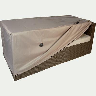 Housse de protection pour canapé de jardin 2 places - beige alpilles - (L170x90xH60cm)-RIANS