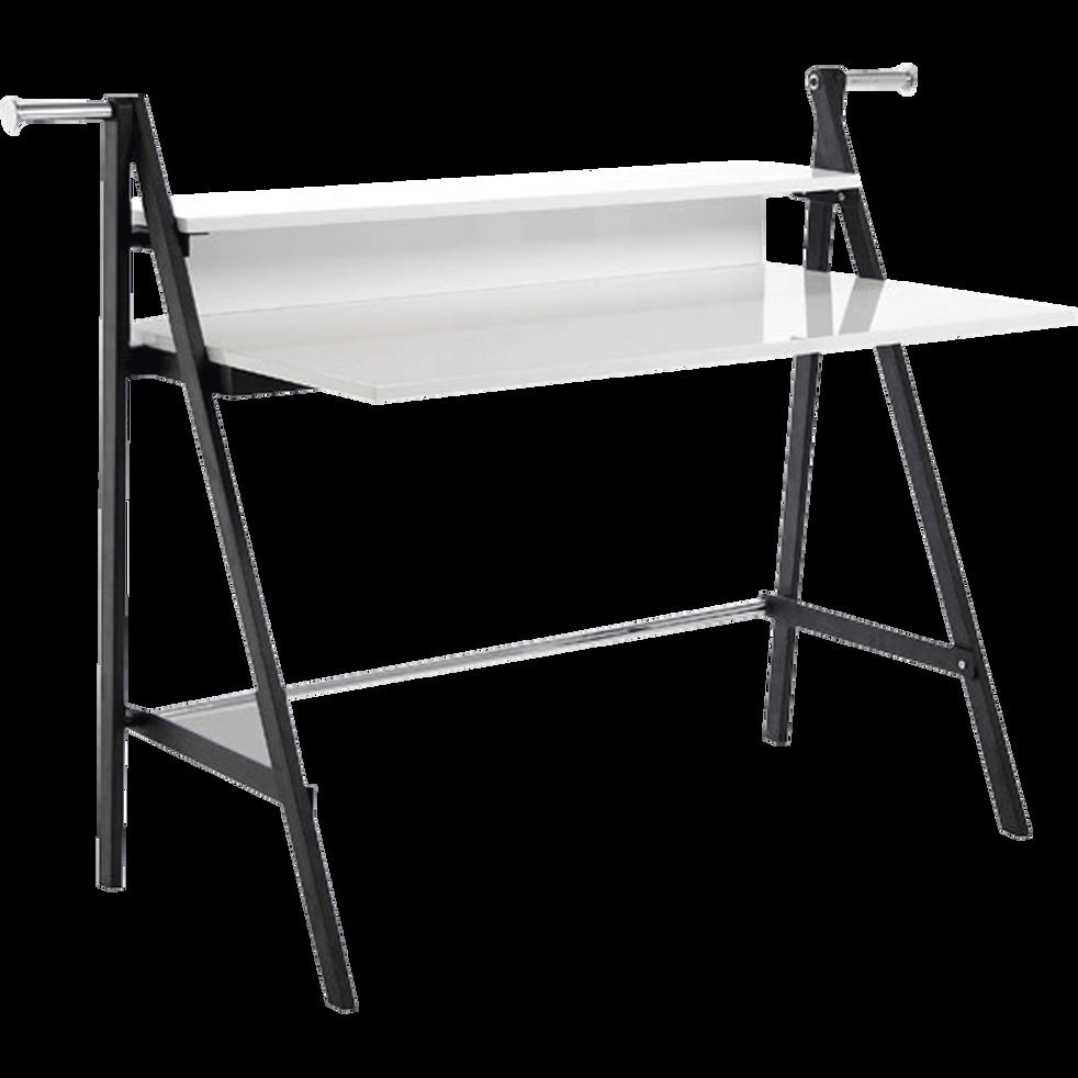 Bureau design bicolore noir et blanc-Tech