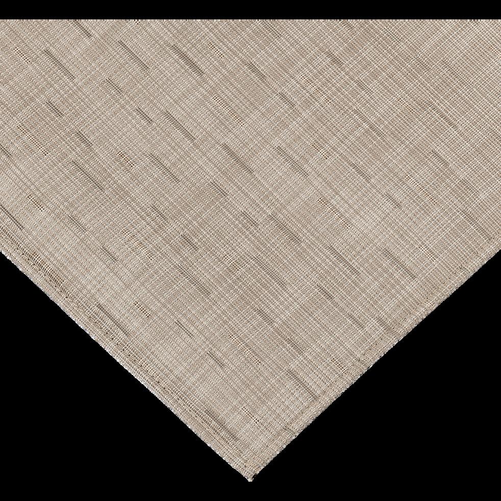 Tapis de cuisine effet tissé beige roucas 50x80cm-VITOU