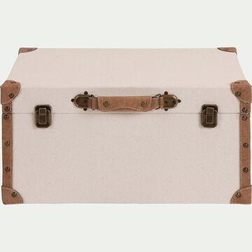 Malle de rangement en tissu - beige H35xL50cm-CARLONE