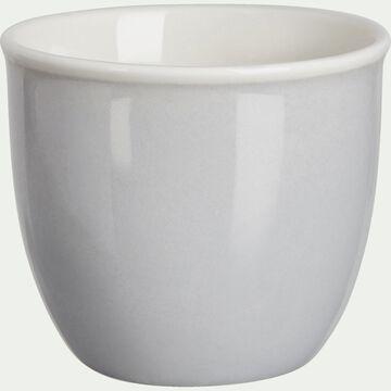 Coquetier en porcelaine - gris borie-CAFI