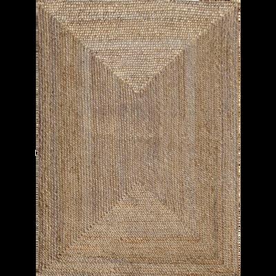 Tapis tressé en jute - 200x290 cm-RUSH