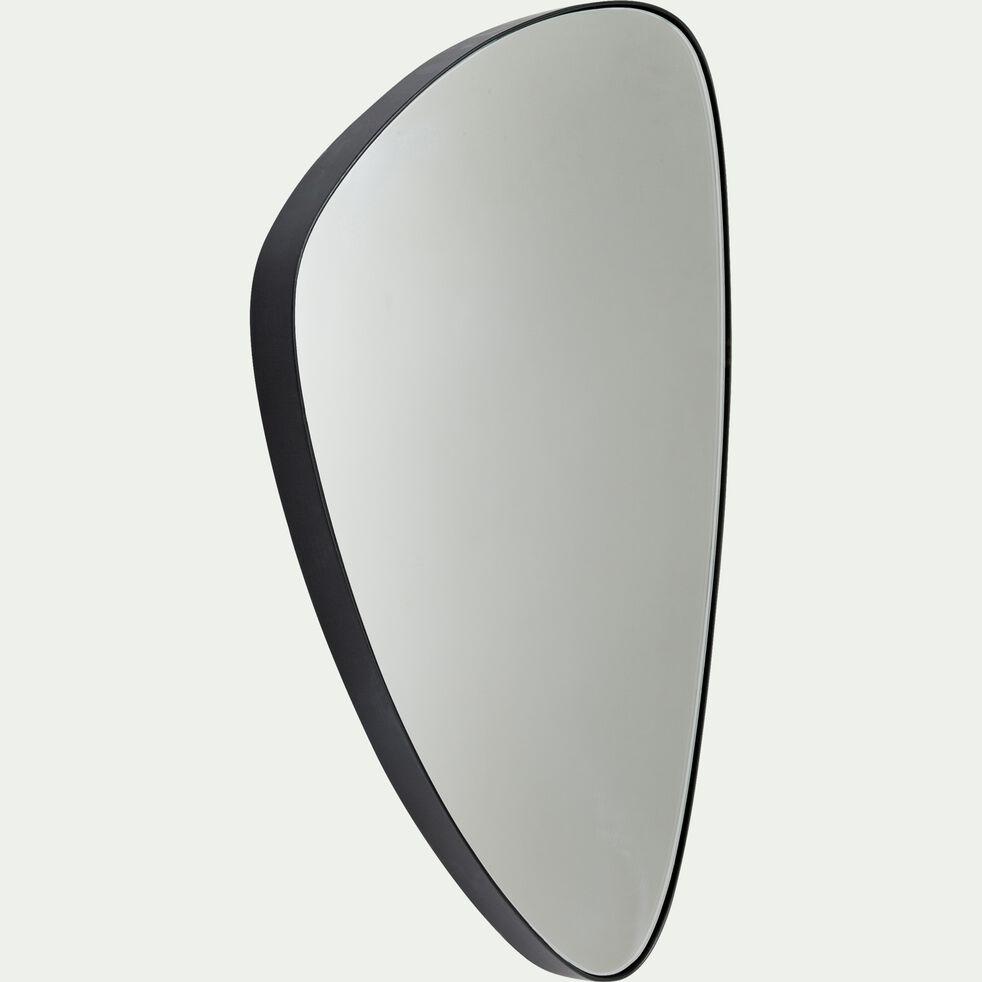 Miroir triangulaire noir 62,5x42cm-TRELUS