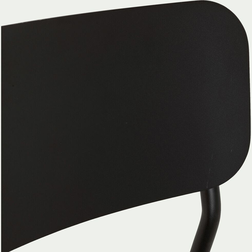 Chaise de jardin en aluminium - noir-Matias