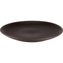 Assiette plate en grès marron D28cm-STONE