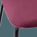 Chaise médaillon en velours rouge sumac-DIVA
