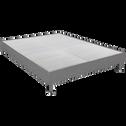 Sommier tapissier Alinéa 15 cm Gris - 160x200 cm-DECOCONFORT