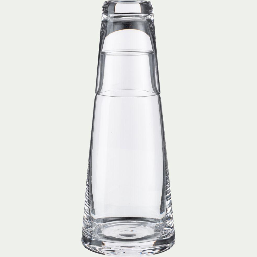 Pichet en verre borosilicate avec verre - 0,6L-CACAN