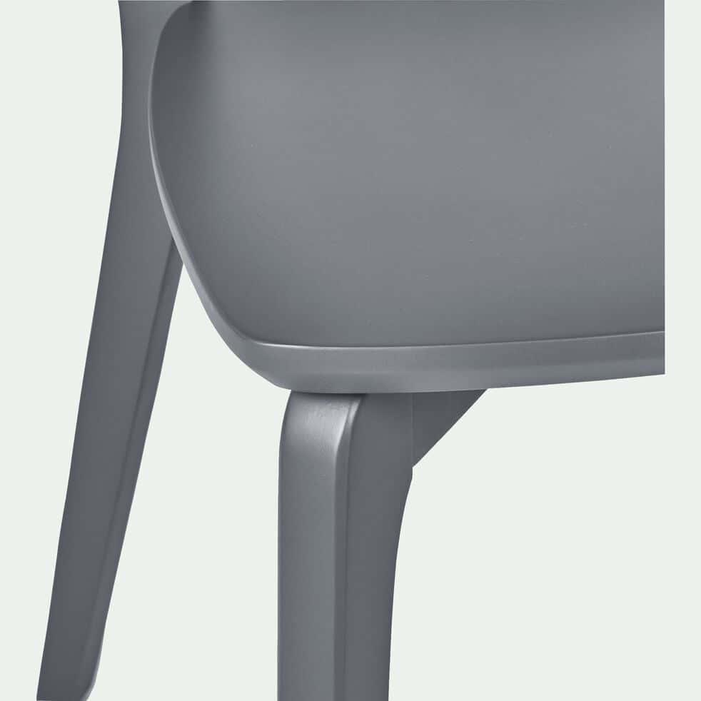 Chaise en bois - gris restanque-SUZIE